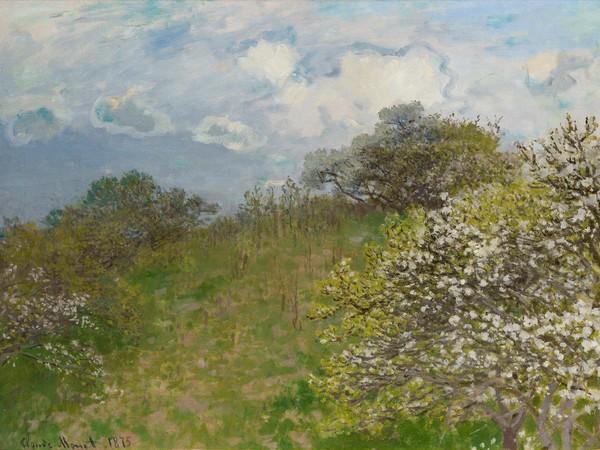 Claude Monet, La Primavera, 1875, olio su tela, cm. 58x78,5