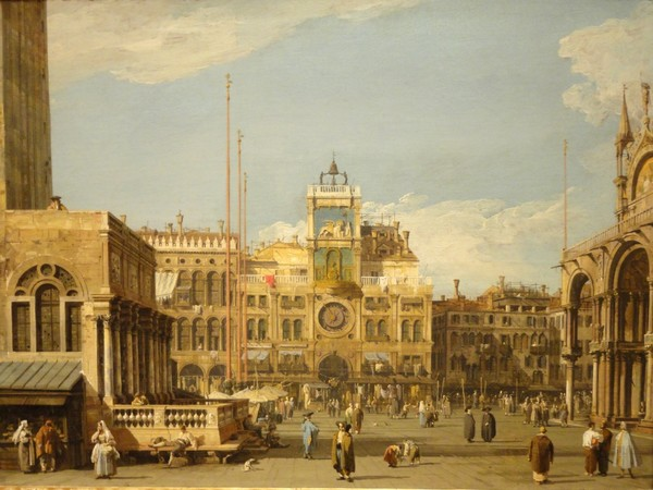 Canaletto,&nbsp;<em>La Torre dell&rsquo;Orologio in Piazza San Marco, Venezia,&nbsp;</em>1728-1730 <br /> Olio su tela, 69.5 x 52.1 cm, The Nelson-Atkins Museum of Art, Kansas City, Missouri | Acquisto: William Rockhill Nelson Trust, 55-36&nbsp;<br />