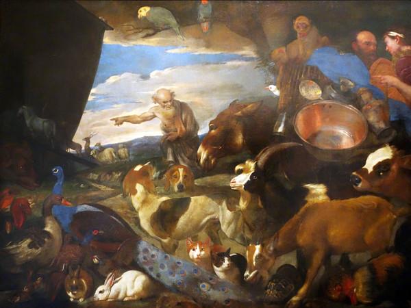 Giovanni Benedetto Castiglione detto Grechetto (1609 - 1664), <em>L'arca di Noè</em>, Olio su tela, 256 x 180 cm, Genova, Museo dell'Accademia Ligustica