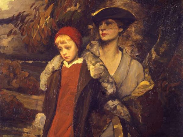 Lino Selvatico, <em>Mamma e bambino</em>, 1922, Olio su tela, 160 x 113cm, Ca' Pesaro, Galleria Internazionale d'Arte Moderna, Venezia<br />