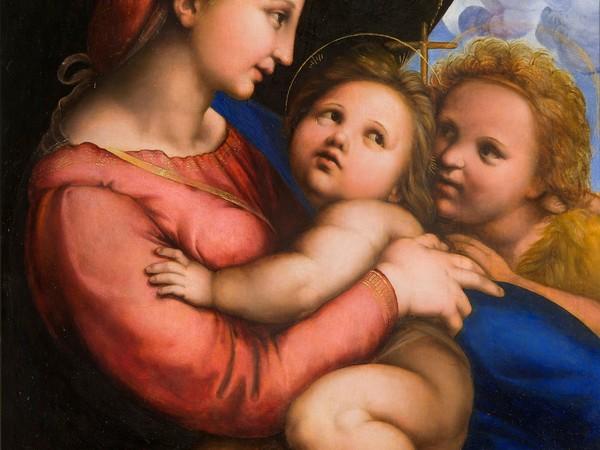 Pittore centro italiano, Madonna della tenda, da Raffaello, 1530-1540. Olio su tavola Torino, Musei Reali - Galleria Sabauda, inv. 271