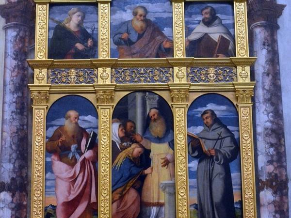 Palma il Vecchio, Polittico Presentazione della Vergine