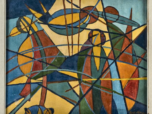 Mimmo Rotella, Senza titolo, 1947, olio su tela, cm 50x60