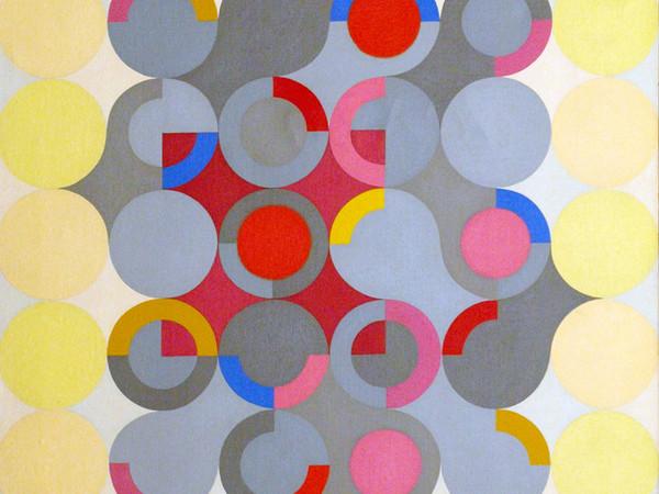 Carlo Nangeroni, Iterazione Ritmica, 1963, olio su tela, cm.70x60