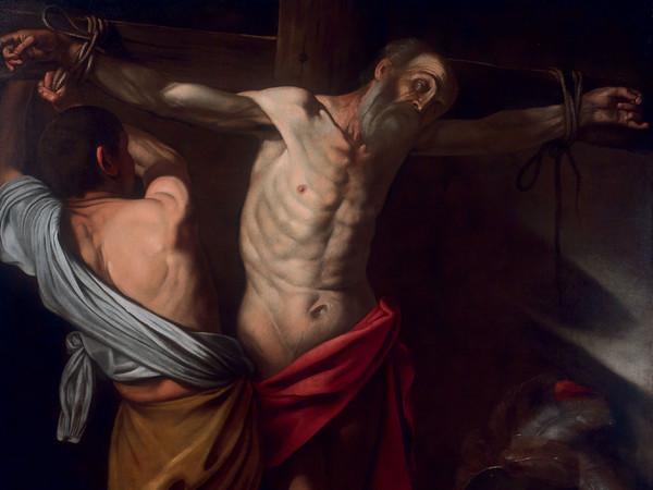 Michelangelo Merisi detto Caravaggio, Crocifissione di Sant'Andrea, olio su tela, cm 198x148,5 (part.). London, collezione Spier (già Vienna, collezione Back-Vega)