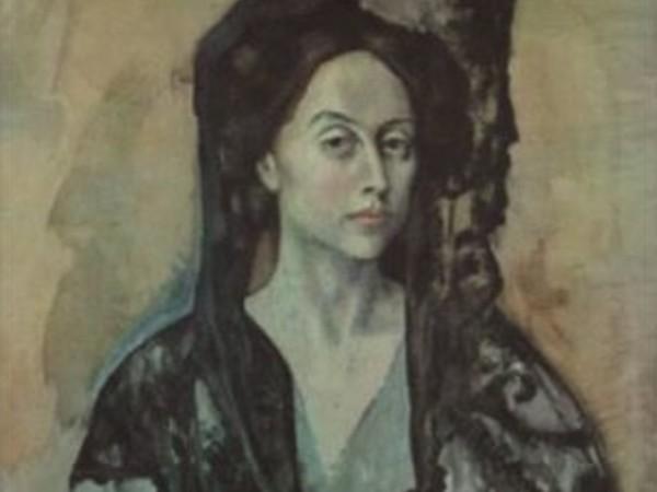 Pablo Picasso, Madame Ricardo Canals, 1966, 55x70 cm., litografia a colori su carta intessuta