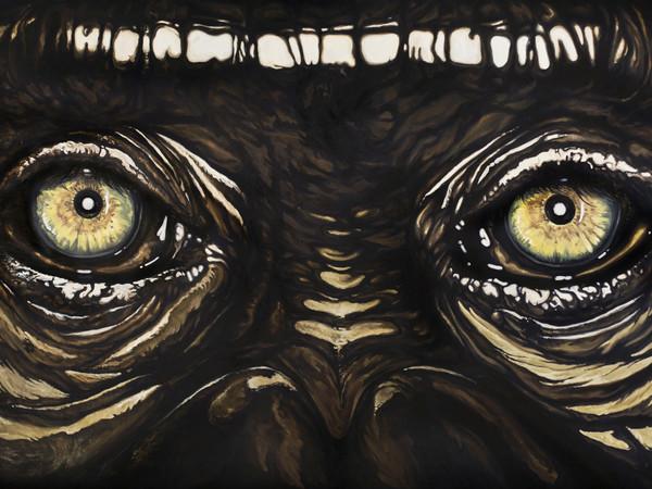 Simone Fugazzotto, UNTITLED, 270 x 130 cm, Olio su tela | Courtesy of Simone Fugazzotto e Fondazione Maimeri