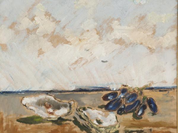 Filippo De Pisis, Natura morta con ostriche e grappolo d'uva, 1932