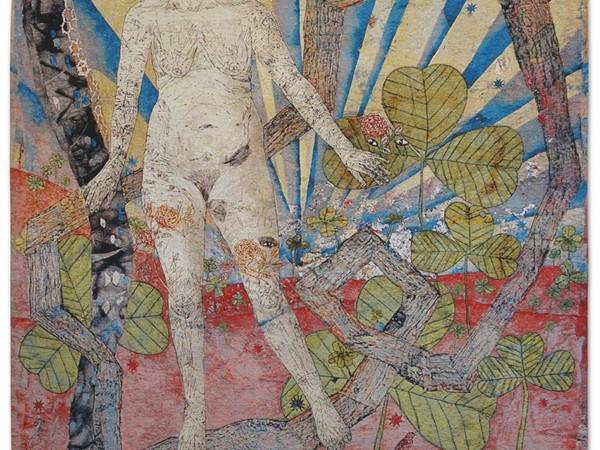 Kiki Smith, Earth, 2012, arazzo jacquard (edizione di 10). Edito da Magnolia Editions