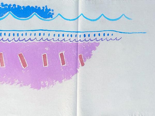 Giorgio Griffa, Campo viola, 1984, acrilico su tela, cm. 59x92