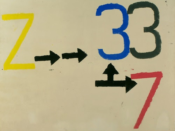 Jannis Kounellis, Z-3, 1961. Tempera su tela, 134 x 165 cm. Dono dell'artista, 1967. Museo Sperimentale, GAM – Galleria Civica d'Arte Moderna e Contemporanea, Torino
