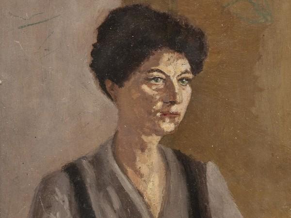 Luigi Pirandello, <em>Ritratto della moglie Antonietta</em>, 1910, olio su tavola 15x22 cm