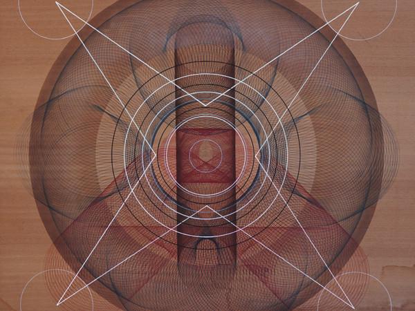 Moneyless, Senza titolo, tecnica mista su tavola, cm. 120x120