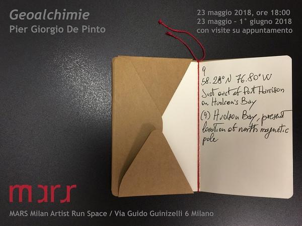 Pier Giorgio De Pinto, Geoalchimie, MARS Milan Artist Run Space