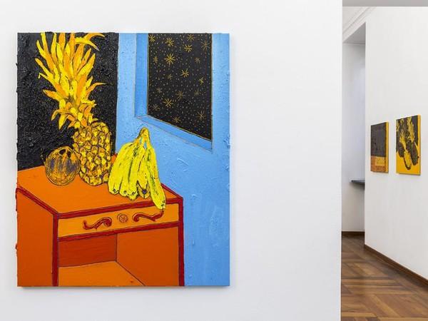 Giuseppe Mulas, Remember me when i die, 2019, tecnica mista su tela, cm. 130x110