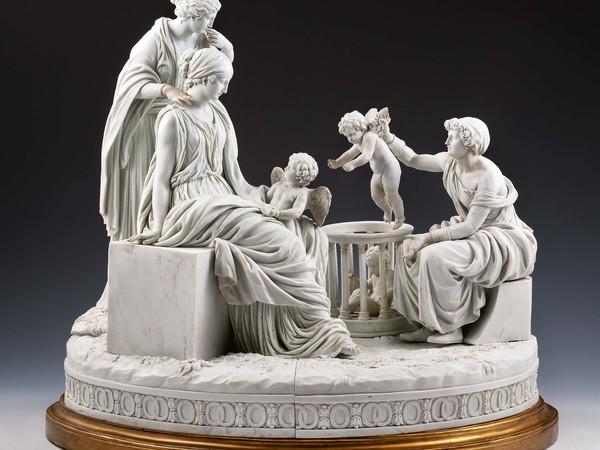 Manifattura di Meissen (modello di Christian Gottfried Jüchtzer), La Venditrice di Amorini, 1790-1800. Biscuit