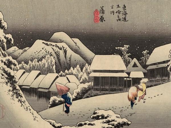 Utagawa Hiroshige, <em>Kanbara. Neve di sera</em>, 1833-1834, Museum of Fine Arts, Boston - Gift of Miss Lucy T. Aldrich