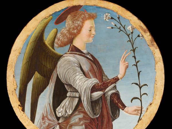 <em>Polittico Griffoni</em>, 1472-1473 circa, Francesco del Cossa, <em>Angelo Annunciante</em>, Gazzada, Collezione Cagnola