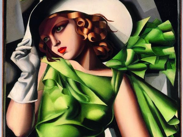 Tamara de Lempicka, Ragazza in verde, 1930-1931. Olio su compensato, 61,5x45,5 cm. Parigi, Centre Pompidou. Musee national d'art moderne / Centre de creation industrielle. Acquisto, 1932 © Tamara Art Heritage. Licensed by MMI NYC/ ADAGP Paris/ SIAE Roma 2015