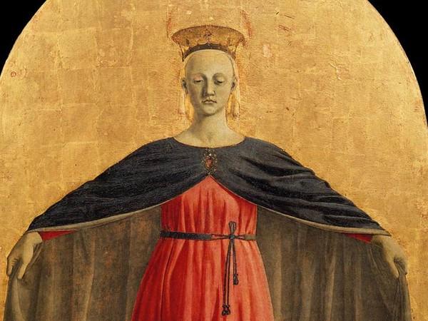 La Madonna della Misericordia, dettaglio del Polittico della Misericordia Piero della Francesca (1460 ca.)