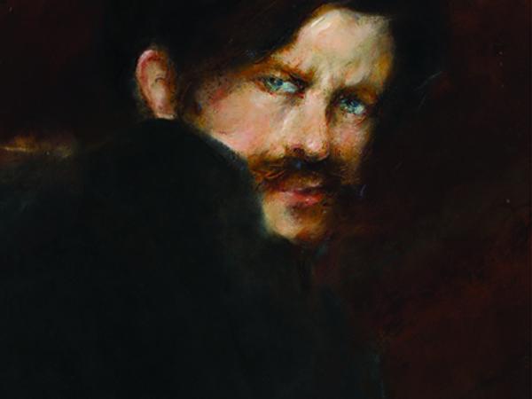 Giacomo Balla, <em>Autoritratto</em>, 1894 circa, olio su cartone, cm. 34x30,5