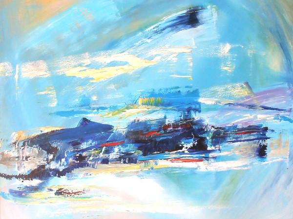 Mirella Barberio, Periphéreia, speranze, riscatti delusioni, collera, olio su tela, cm. 80x100, 2015