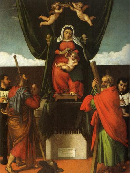Madonna con il Bambino e i santi Giacomo Maggiore, Andrea, Cosma e Damiano