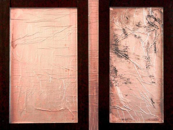 Tano Festa, Il giorno dei morti, 1961, carta-alluminio, legno e acrilico su tela