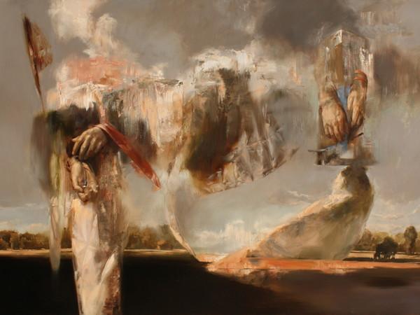 Mozes Incze, Transition, 2017, olio su tela, cm. 110x160