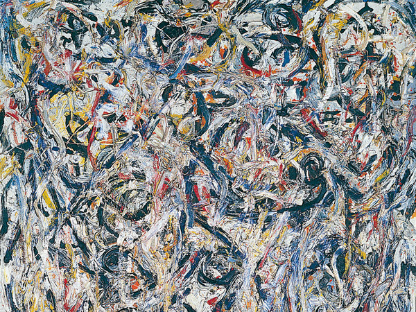 Jackson Pollock, Earth Worms, 1946. Olio su tela, Tel Aviv Museum of Art Collection, dono di Peggy Guggenheim, Venezia attraverso l'American-Israel Cultural Foundation, 1954 © Jackson Pollock, by SIAE 2014