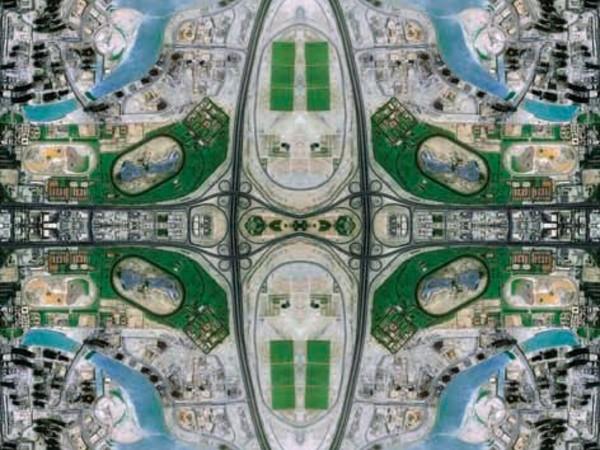 David Thomas Smith, Burj Dubai, EAU, Satellite Photography, cm 100x70, 2010, ed 1 di 9
