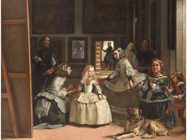 Diego Rodríguez de Silva y Velázquez, semplicemente noto come Diego Velázquez, (Siviglia, 1599 - Madrid, 1660), Las meninas, 1656, Olio su tela, 256 x 318 cm, Museo del Prado, Madrid   Courtesy of Nexo Digital