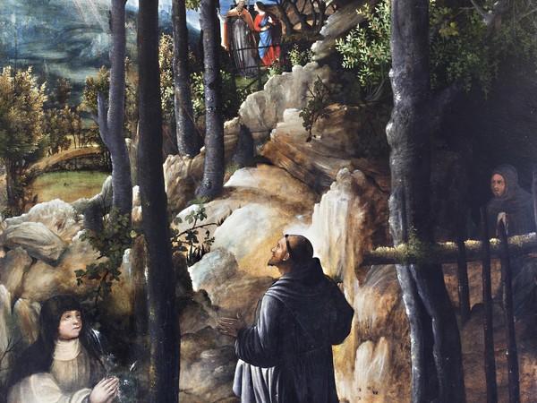Filippo da Verona, San Francesco riceve le stigmate, olio su tavola, cm. 130 x 94,8. Bologna, Collezioni Comunali d'Arte