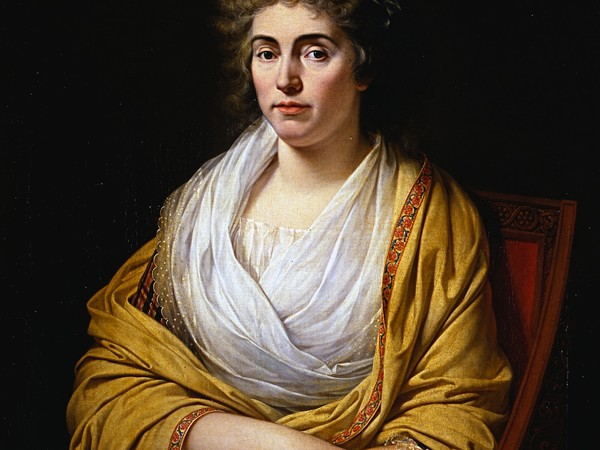 Recto: Francois-Xavier Fabre, Ritratto di Luisa di Stolberg, contessa d'Albany. Verso: sonetto alfieriano, olio su tela