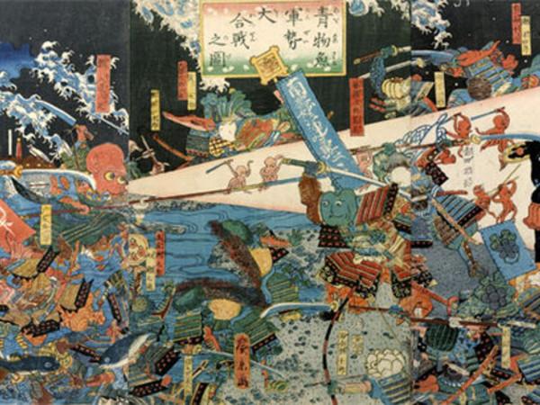 La battaglia tra pesci e verdure, 1859