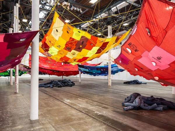Pia Camila, Divisor Pirata Amarillo, 2017. Exhibition view of the show Bara bara bara, 2019, Tramway, Glasgow