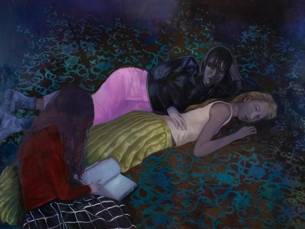 Maddalena Tesser, <em>Sirene</em>, 2021, Olio su tela, 145 x 198 cm   Courtesy of A plus A Gallery<br />