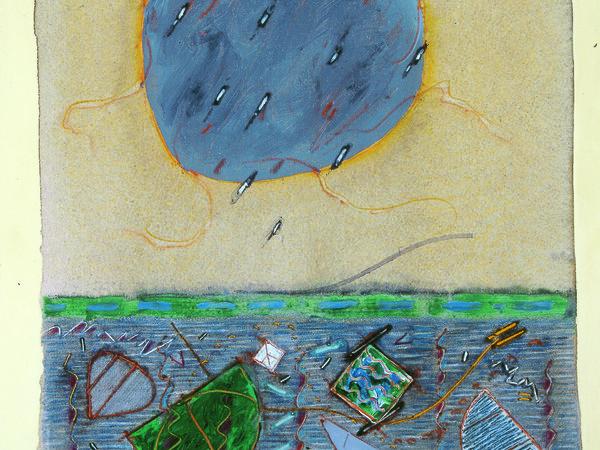Pirro Cuniberti, Cospicue tracce di geometria sul fondo del fiume, 1990