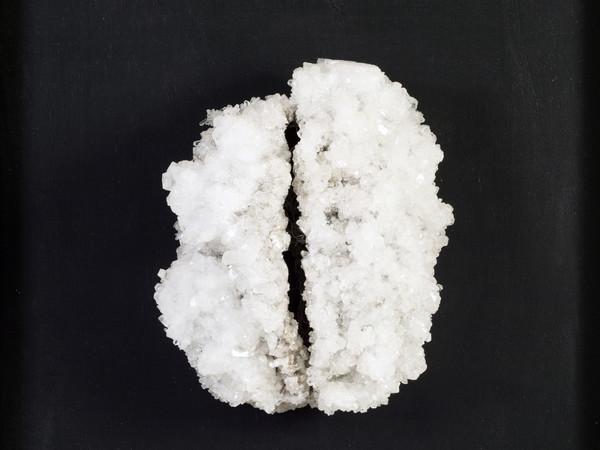 Francesca Romana Pinzari, Brain, 2016, cristalli di solfato di magnesio su struttura metallica, cm 50x50x20