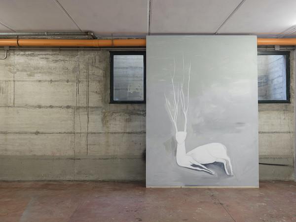 Filippo La Vaccara, Untitled, 2020. Acrilico su tela 270 x 200 cm.