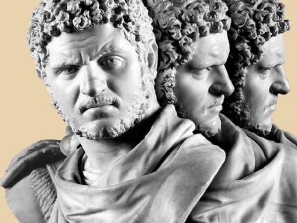 Busto di Caracalla, Napoli, Museo Archeologico Nazionale. Rielaborazione grafica Studio Tassinari/Vetta
