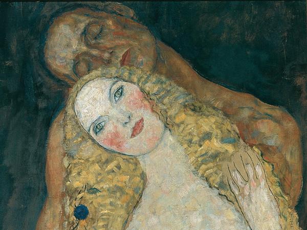 Gustav Klimt, Adamo ed Eva (incompiuto), 1917?18. Olio su tela, cm 173 x 60. Vienna, Belvedere © Belvedere, Vienna