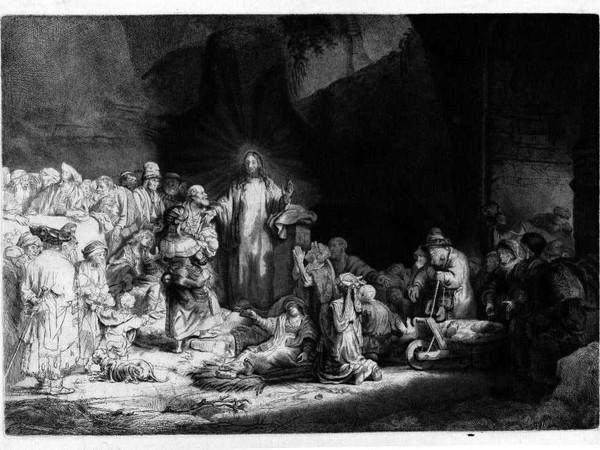 Rembrandt, La Stampa da Cento Fiorini, c.1647-1649, incisione