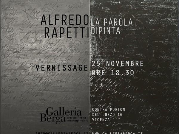 Alfredo Rapetti Mogol. La Parola Dipinta, Galleria Berga, Vicenza