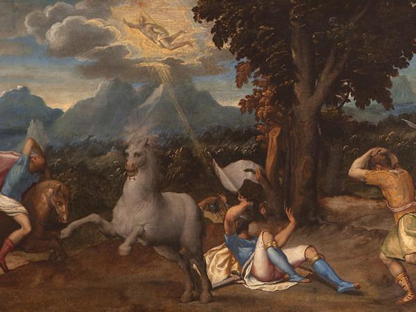 Intervento conservativo sulla tavola di Licinio sopravvissuta alla rapina