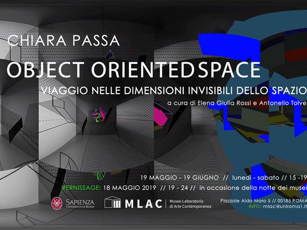 Chiara Passa. Object Oriented Space, MLAC – Museo Laboratorio di Arte Contemporanea, Roma