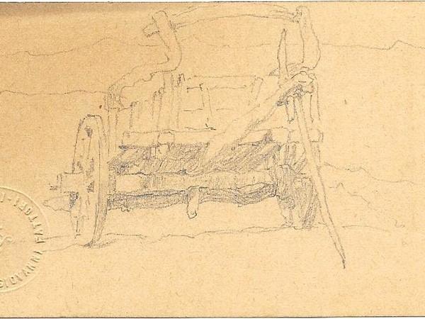 Giovanni Fattori, Carro, disegno su carta, mm. 63x110, 1880 ca.