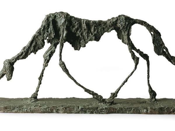 Alberto Giacometti, Il cane, 1951 bronzo, cm. 47x100x15. Saint-Paul-de-Vence, Fondation Marguerite et Aimé Maeght