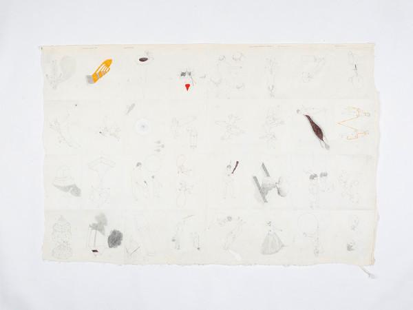 José Antonio Suárez Londoño, Dibujo, 2019, tecnica mista su carta, cornice in legno, 50 x 76 cm.