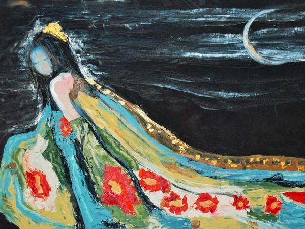 Rachele Carol Odello, Lilith parte oscura di ognuno di noi, 2017, tecnica mista su mdf, 120 x 80 cm.